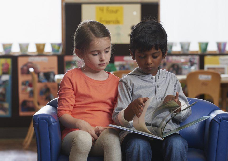 Boy Girl Reading